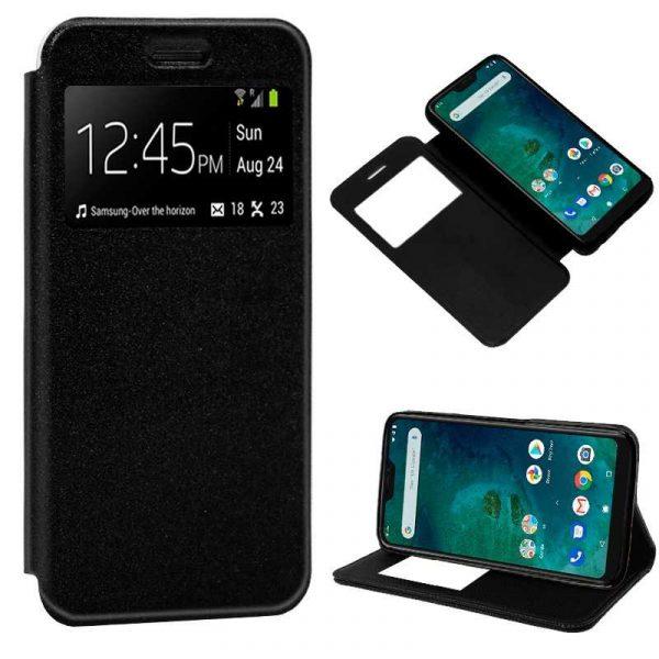Funda Flip Cover Xiaomi Mi A2 Lite / 6 Pro Liso Negro 1