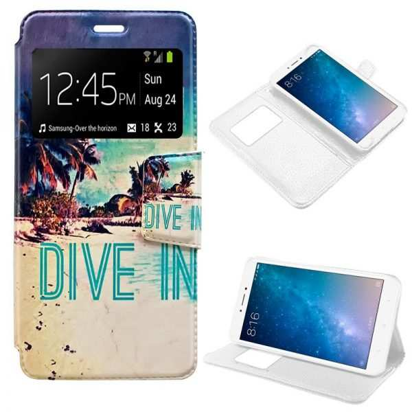 Funda Flip Cover Xiaomi Mi Max 2 Dibujos Beach 1