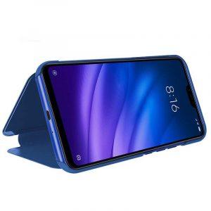 Funda Flip Cover Xiaomi Mi8 Lite Clear View Azul 4