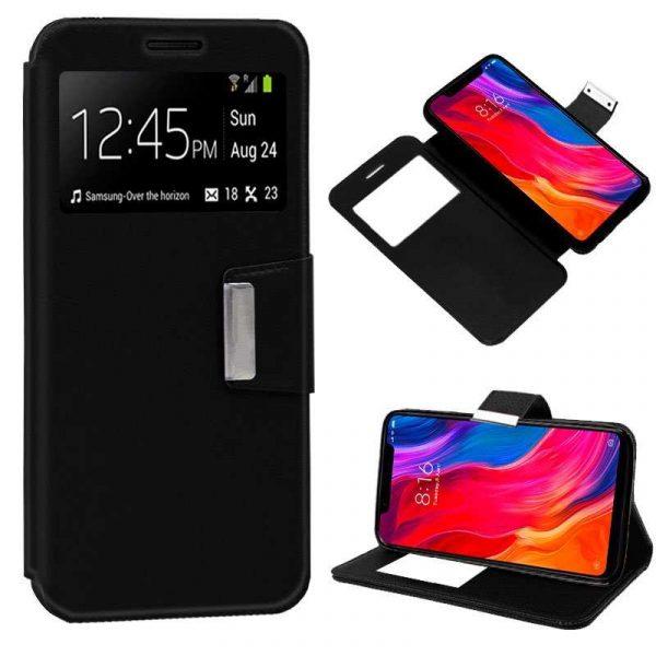 Funda Flip Cover Xiaomi Mi8 / Mi8 Pro Liso Negro 1