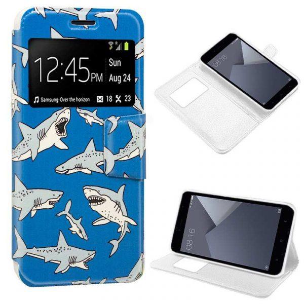 funda flip cover xiaomi redmi note 5a note 5a prime dibujos tiburon