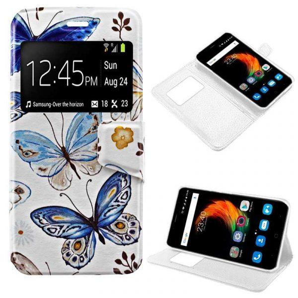 funda flip cover zte blade a610 plus dibujos mariposas