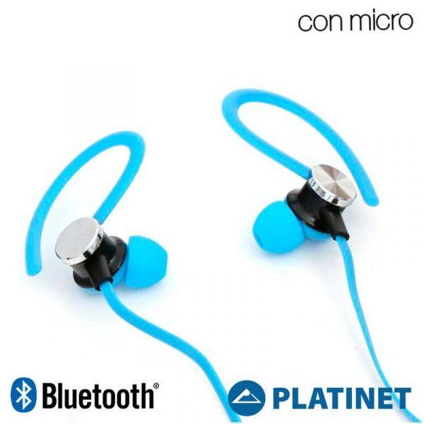 Funda Neopreno Running + Auriculares Universal Platinet Bluetooth Stereo Azul 2