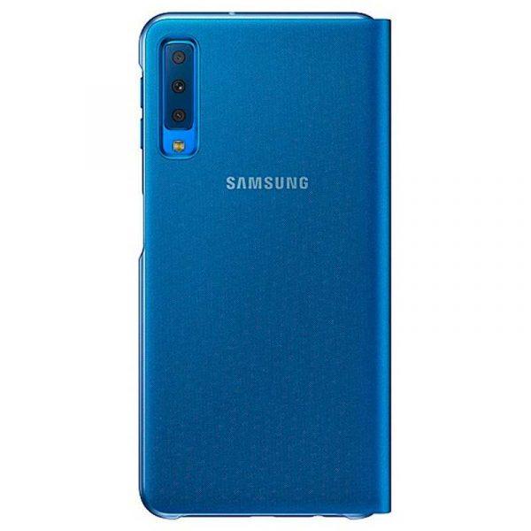 funda original samsung a750 galaxy a7 wallet cover azul con blister 1