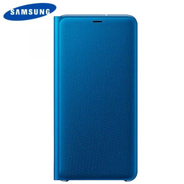 funda original samsung a750 galaxy a7 wallet cover azul con blister 2