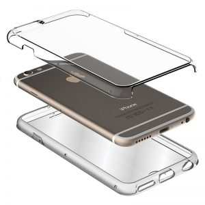 funda silicona 3d iphone xs max transparente frontal trasera 1