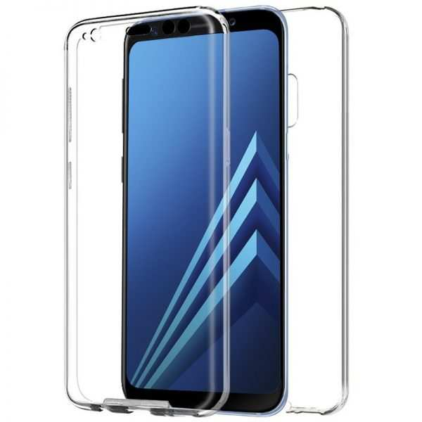 Funda Silicona 3D Samsung A530 Galaxy A8 (2018) (Transparente Frontal + Trasera) 1