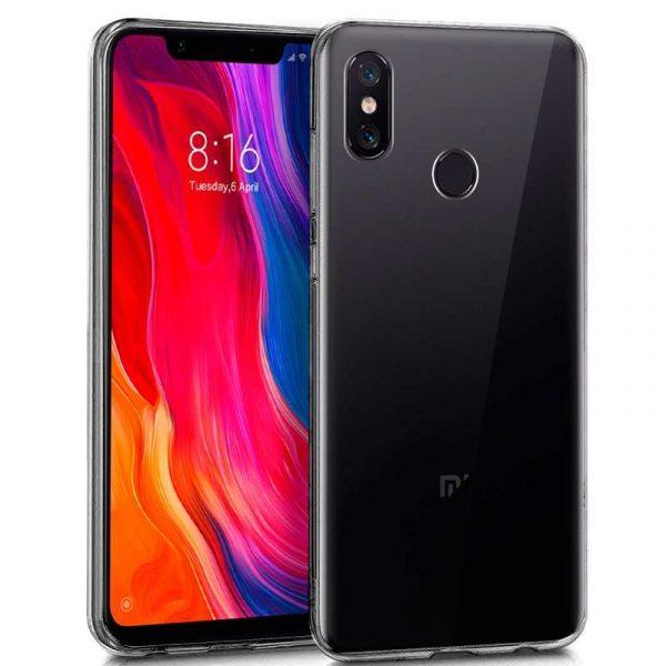Funda Silicona Xiaomi Mi8 / Mi8 Pro (Transparente) 1