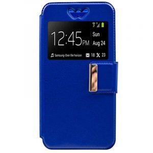Funda Universal Flip Cover 5.4 - 5.7 pulg Liso Azul 4