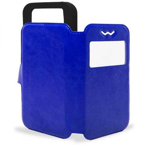 Funda Universal Flip Cover 5.4 - 5.7 pulg Liso Azul 3