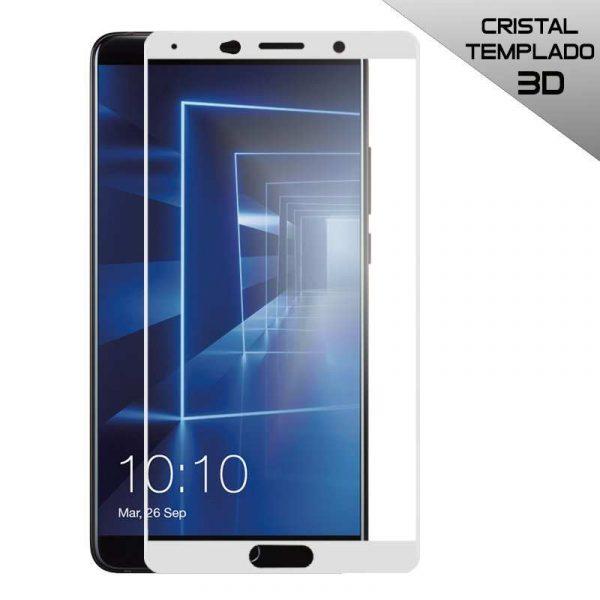 protector pantalla cristal templado huawei mate 10 3d blanco