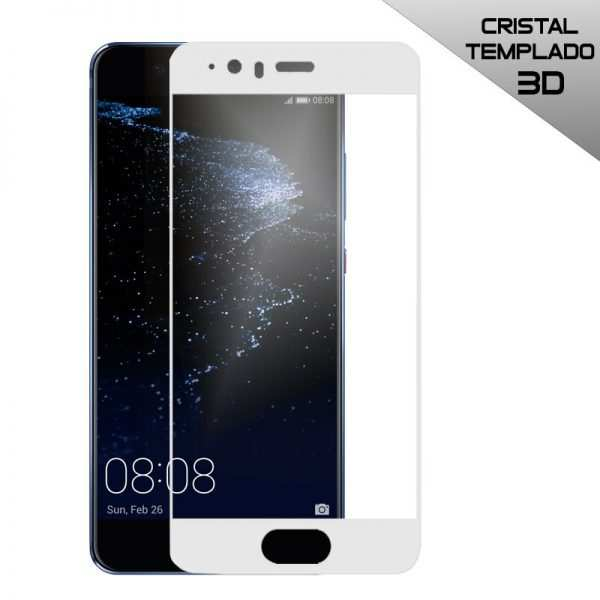 protector pantalla cristal templado huawei p10 plus 3d blanco