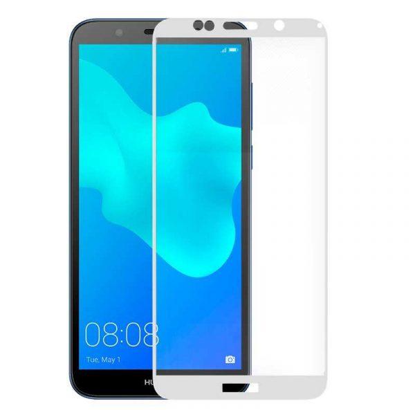 protector pantalla cristal templado huawei y5 2018 honor 7s 3d blanco