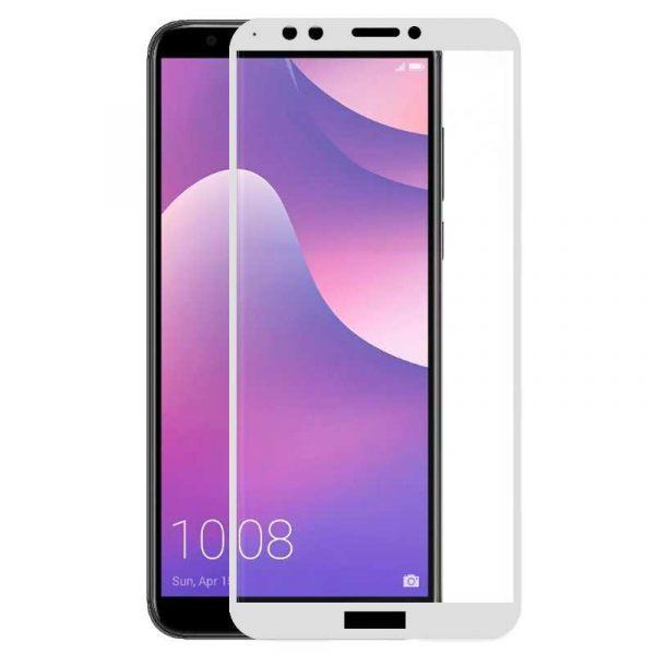 protector pantalla cristal templado huawei y7 2018 honor 7c 3d blanco
