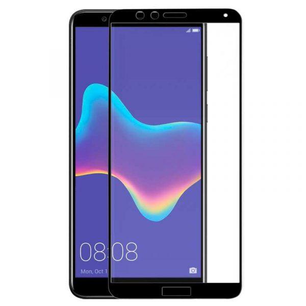 protector pantalla cristal templado huawei y9 2018 3d negro