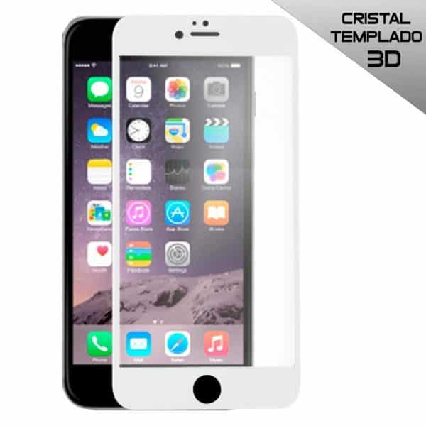 protector pantalla cristal templado iphone 6 plus 6s plus full 3d blanco2
