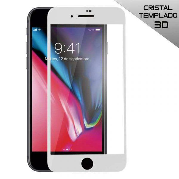 protector pantalla cristal templado iphone 7 plus iphone 8 plus full 3d blanco