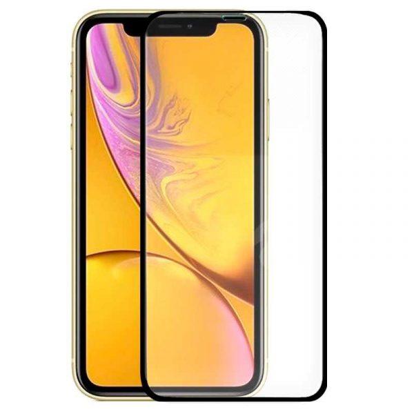 protector pantalla cristal templado iphone xr full 3d negro