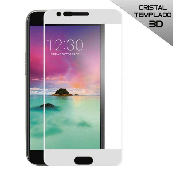 protector pantalla cristal templado lg k10 2017 k11 3d blanco