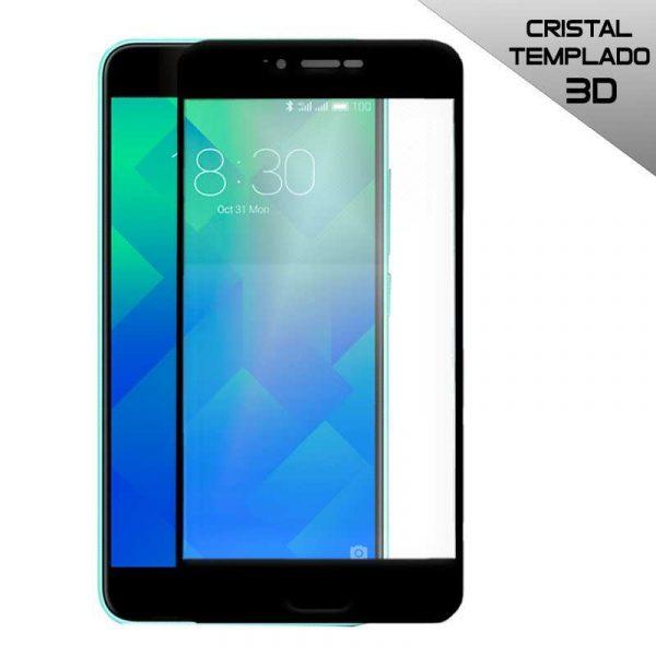 protector pantalla cristal templado meizu m5 3d negro