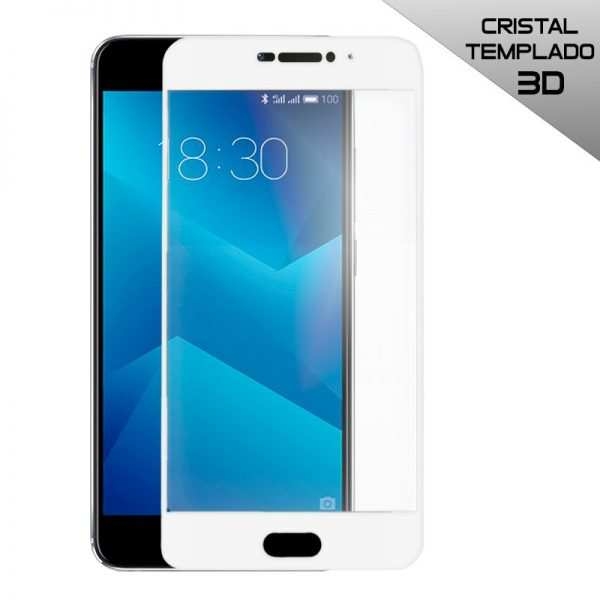 protector pantalla cristal templado meizu m5 note 3d blanco