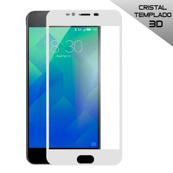 protector pantalla cristal templado meizu m5s 3d blanco