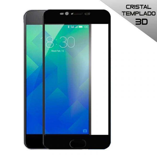 protector pantalla cristal templado meizu m5s 3d negro