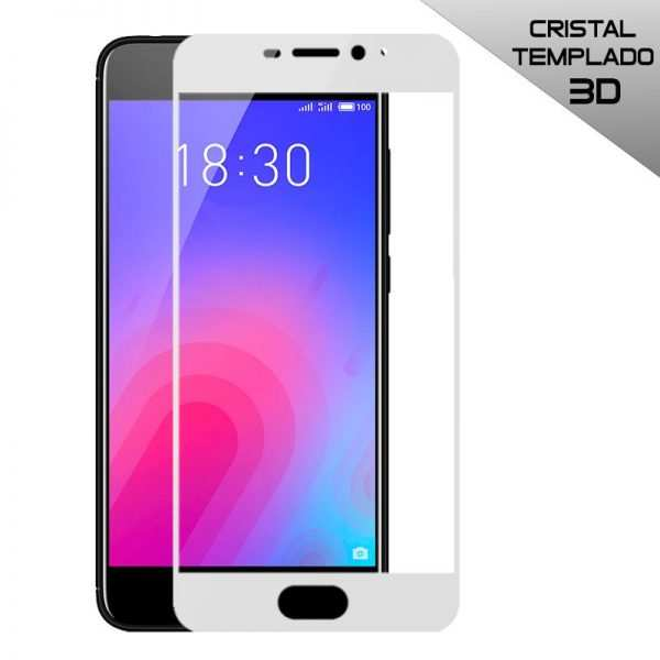 protector pantalla cristal templado meizu m6 3d blanco