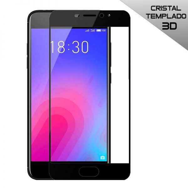 protector pantalla cristal templado meizu m6 3d negro