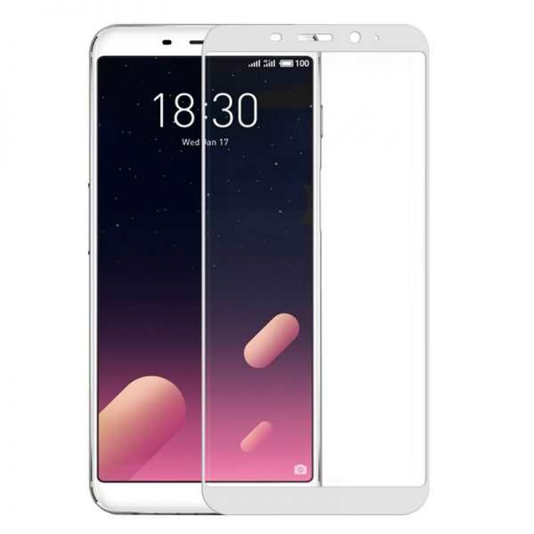 protector pantalla cristal templado meizu m6s 3d blanco