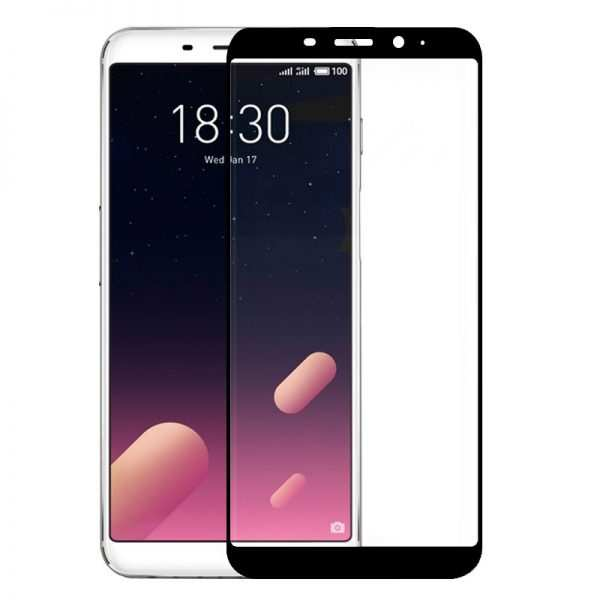 protector pantalla cristal templado meizu m6s 3d negro