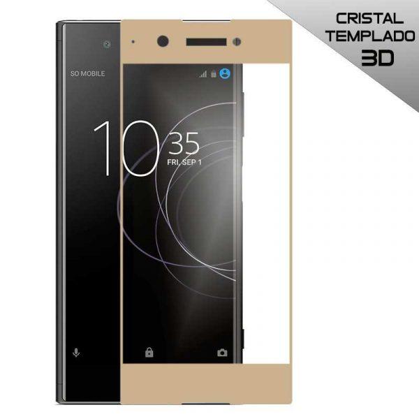 protector pantalla cristal templado sony xperia xa1 plus 3d dorado
