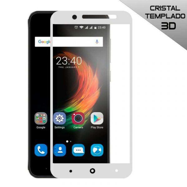 protector pantalla cristal templado zte blade a610 plus 3d blanco