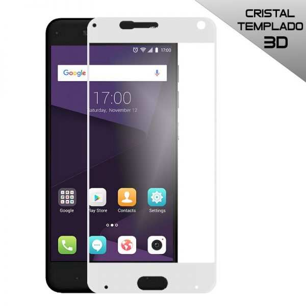 protector pantalla cristal templado zte blade v8 3d blanco