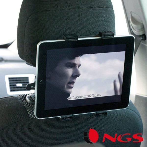 Soporte Universal Reposacabezas de Coche para Tablet NGS Crane 1
