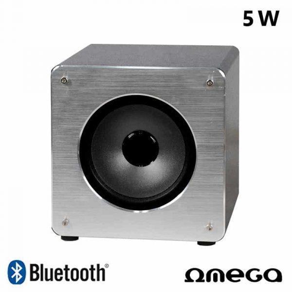 Altavoz Música Universal Bluetooth Marca Omega Cuadrado Plata (5W) 1