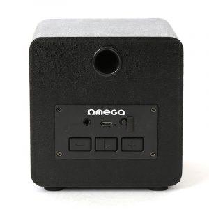 Altavoz Música Universal Bluetooth Marca Omega Cuadrado Plata (5W) 6