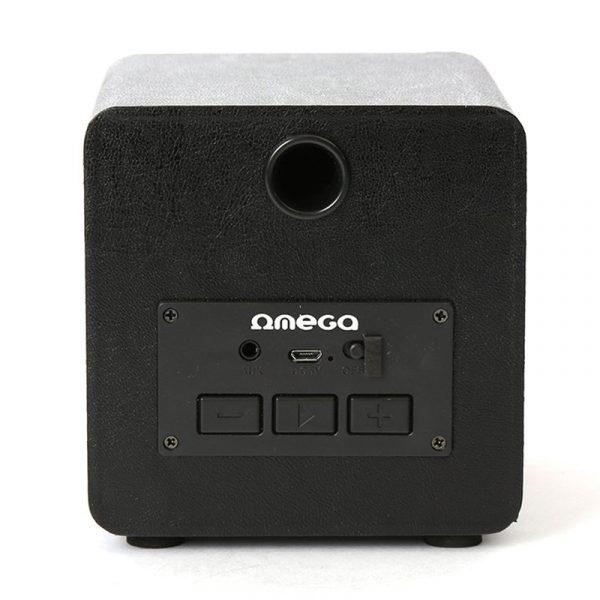 Altavoz Música Universal Bluetooth Marca Omega Cuadrado Plata (5W) 3