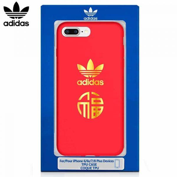 Carcasa iPhone 7 Plus / iPhone 8 Plus Licencia Adidas Rojo 1