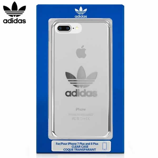 Carcasa iPhone 7 Plus / iPhone 8 Plus Licencia Adidas Transparente Plata 1