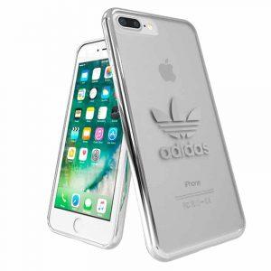 Carcasa iPhone 7 Plus / iPhone 8 Plus Licencia Adidas Transparente Plata 5