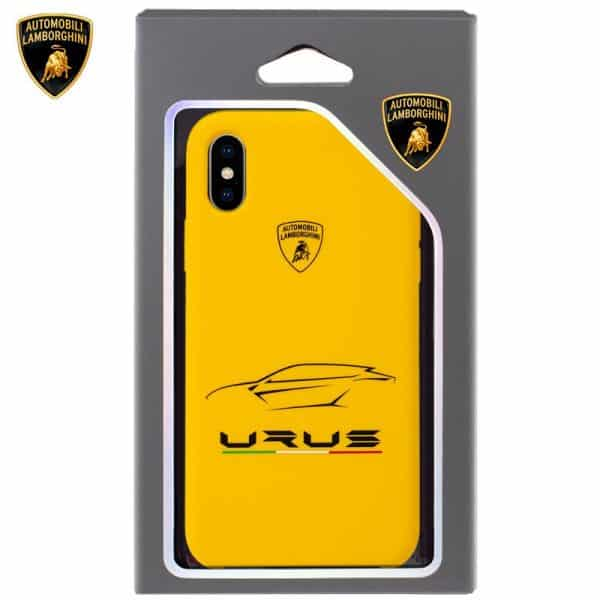 Carcasa iPhone X / iPhone XS Licencia Lamborghini Amarillo 2