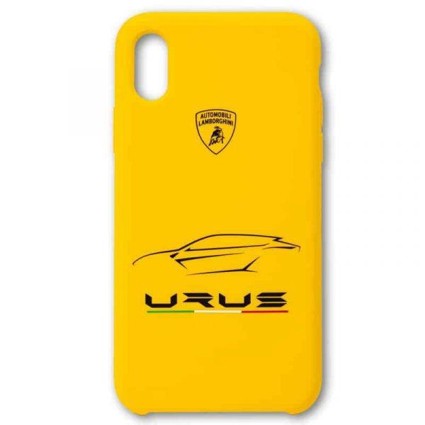 Carcasa iPhone X / iPhone XS Licencia Lamborghini Amarillo 3