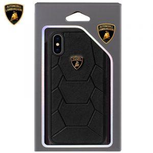 Carcasa iPhone X / iPhone XS Licencia Lamborghini Piel Negro 5
