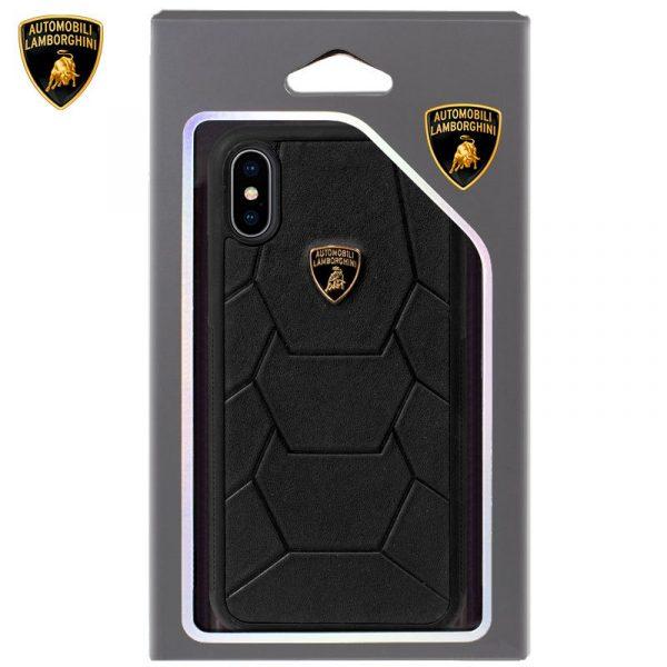 Carcasa iPhone X / iPhone XS Licencia Lamborghini Piel Negro 2