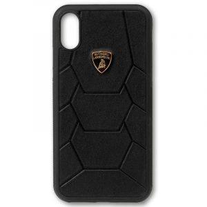 Carcasa iPhone X / iPhone XS Licencia Lamborghini Piel Negro 6