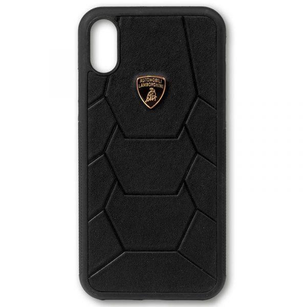 Carcasa iPhone X / iPhone XS Licencia Lamborghini Piel Negro 3