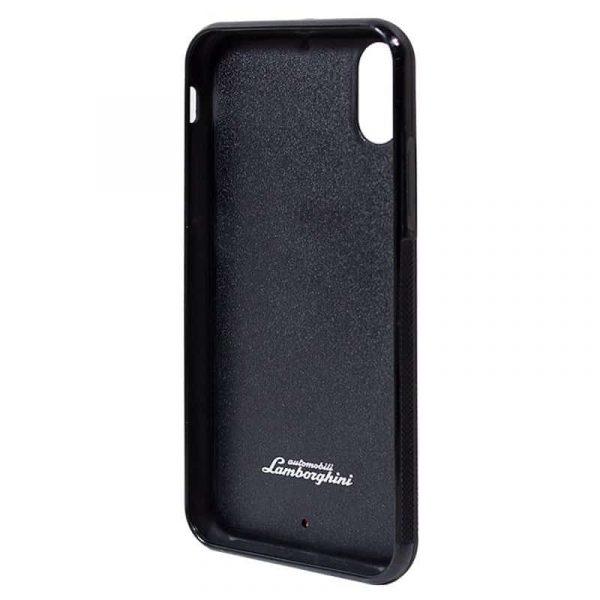 Carcasa iPhone X / iPhone XS Licencia Lamborghini Piel Negro 4