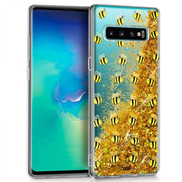 Carcasa Samsung G975 Galaxy S10 Plus Glitter Abejas 1