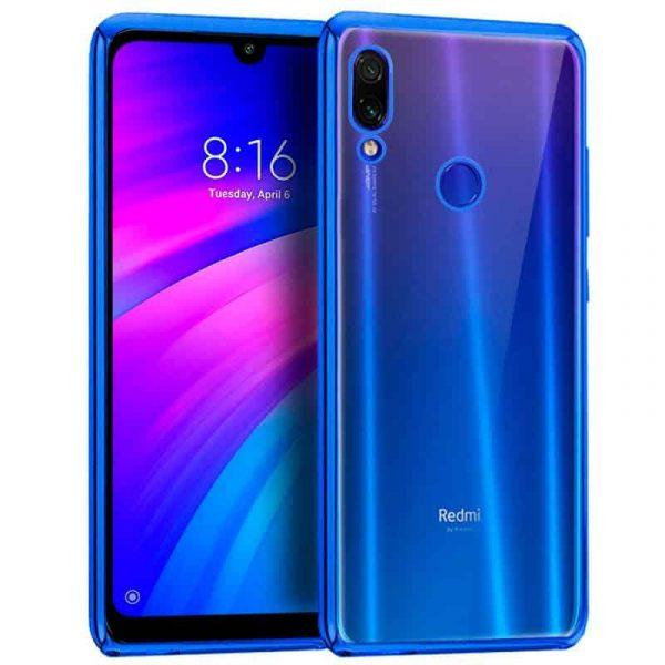 Carcasa Xiaomi Redmi 7 Borde Metalizado (Azul) 1